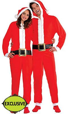 Adult Santa One Piece Pajamas