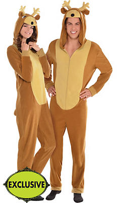 Adult Reindeer One Piece Pajamas