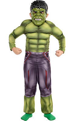 Little Boys Hulk Muscle Costume - Avengers: Age of Ultron