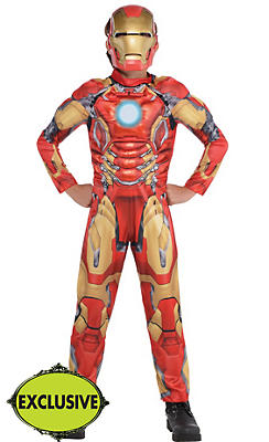 Boys Iron Man Muscle Costume - Avengers: Age of Ultron