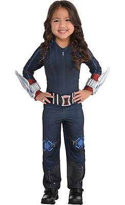 Little Girls Black Widow Costume - Avengers: Age of Ultron
