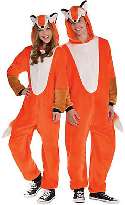 Adult Zipster Fox One Piece Costume