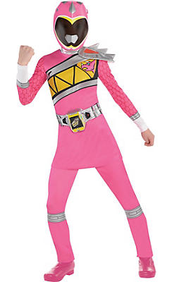 Girls Pink Ranger Costume - Power Rangers Dino Charge