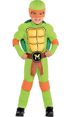 Toddler Boys Michelangelo Muscle Costume - Teenage Mutant Ninja Turtles