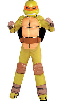 Boys Michelangelo Muscle Costume - Teenage Mutant Ninja Turtles