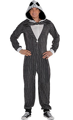 Adult Zipster Jack Skellington One-Piece Pajama Costume - The Nightmare Before Christmas