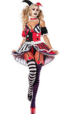 Adult No Good Harlequin Body Shaper Costume