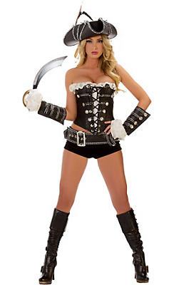 quick shop adult rogue pirate costume - Pirate Halloween Costumes Women