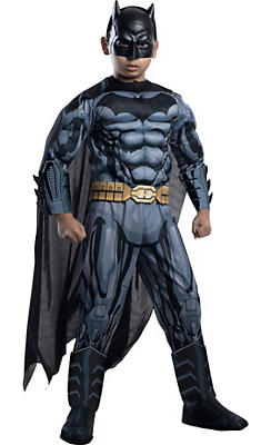 Boys Batman Muscle Costume Deluxe - Batman Comic Book