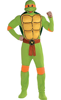 Adult Michelangelo Muscle Costume - Teenage Mutant Ninja Turtles