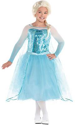 Girls Elsa Costume Premier - Frozen