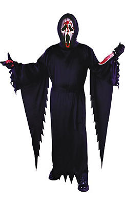 Adult Bleeding Ghost Face Costume Plus Size