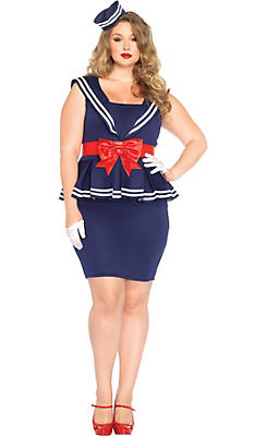 Adult Aye Aye Amy Sailor Costume Plus Size