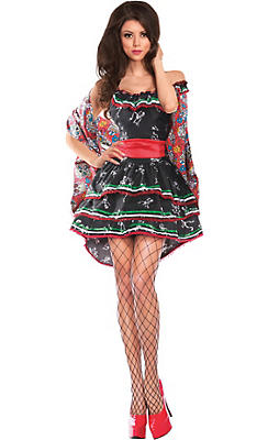 Adult Muerta Sugar Skull Costume - Day of the Dead