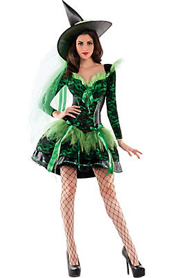 Adult Emerald Wicked Witch Body Shaper Costume