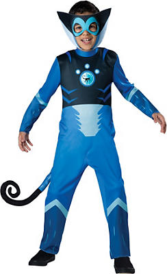 Boys Blue Spider Monkey Muscle Costume - Wild Kratts