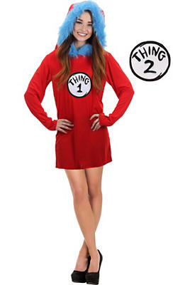 Thing 1 & Thing 2 Hooded Dress - Dr. Seuss
