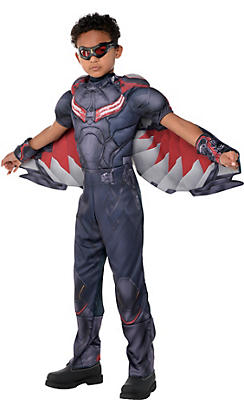 Boys Falcon Muscle Costume - Captain America: Civil War