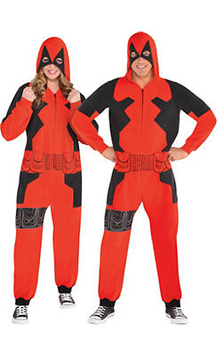 Adult Zipster Deadpool One Piece Costume