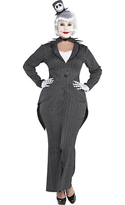 Adult Lady Jack Skellington Costume Plus Size - The Nightmare Before Christmas