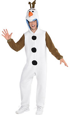 Adult Zipster Olaf One Piece Costume - Frozen