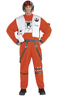 Adult Poe Dameron Costume Plus Size - Star Wars 7 The Force Awakens