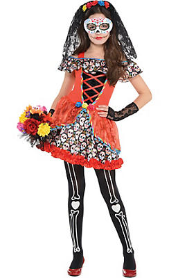 Girls Senorita Sugar Skull Costume