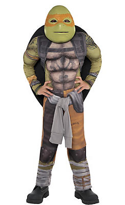 Little Boys Michelangelo Muscle Costume - Teenage Mutant Ninja Turtles 2
