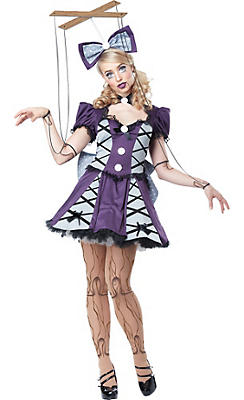 Adult Purple Marionette Costume