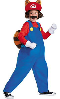 Boys Raccoon Mario Costume - Super Mario