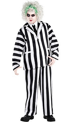 Adult Beetlejuice Costume Plus Size