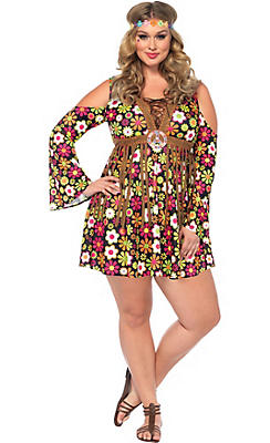Adult Starflower Hippie Costume Plus Size