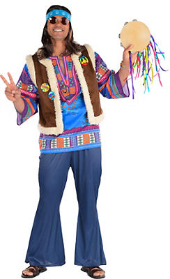 Adult Festival Hippie Costume Deluxe