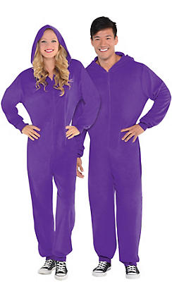 Adult Zipster Purple One Piece Costume