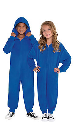 Child Zipster Blue One Piece Costume