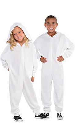 Child Zipster White One Piece Costume