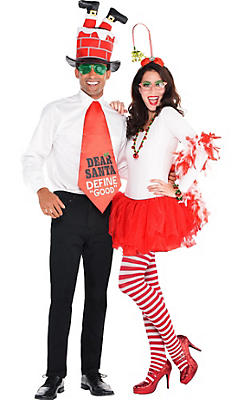Adult Funny Christmas & Candy Cane Couples Costumes