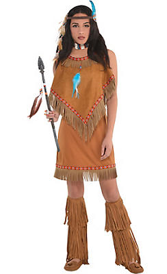 quick shop adult native american princess costume - Native American Costume Halloween