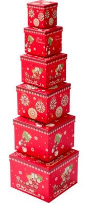 Santa's Sleigh Nesting Boxes 6ct