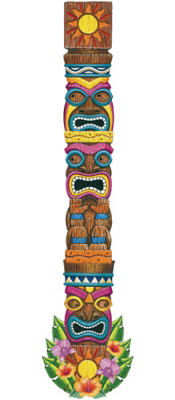 Jointed Tiki Totem Cutout