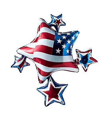 Patriotic Star Cluster Balloon