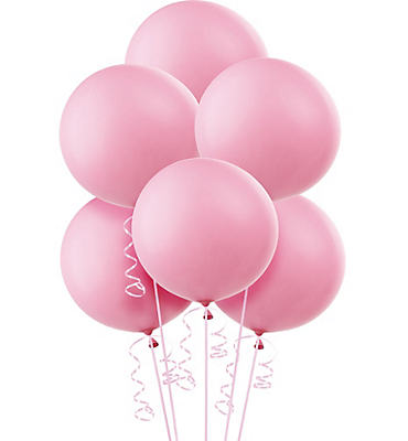 Pink Premium Latex Balloons 36in 6ct