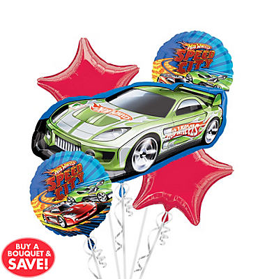 Hot Wheels Balloon Bouquet 5pc