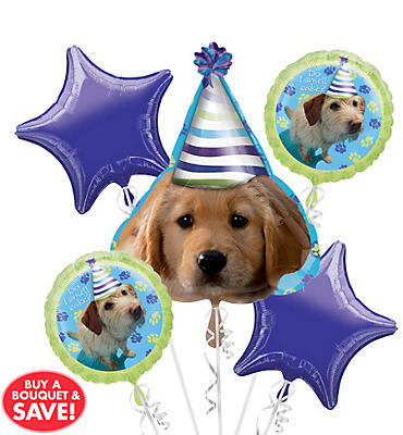 Balloon Bouquet 5pc - Party Pups