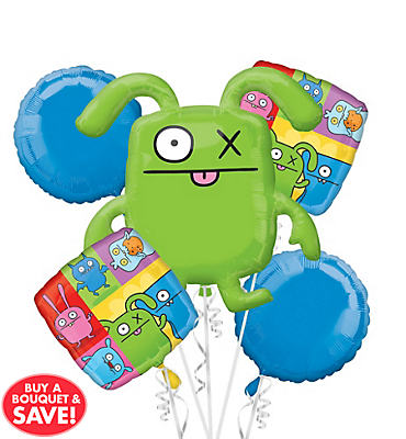 Foil Uglydoll Balloon Bouquet 5pc