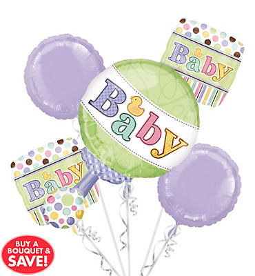 Tiny Bundle Balloon Bouquet 5pc