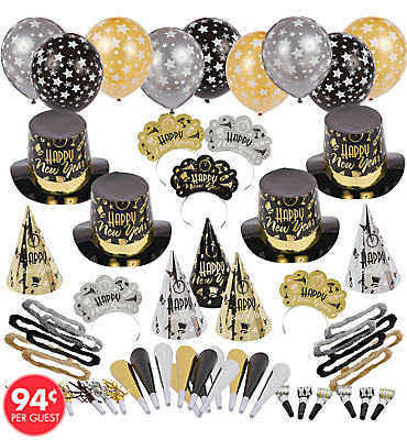 Black Tie Affair New Years Party Kit For 100