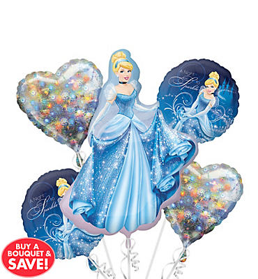 Cinderella Balloon Bouquet 5ct