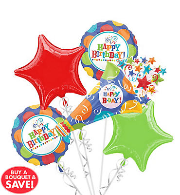 Birthday Fever Balloon Bouquet 5pc