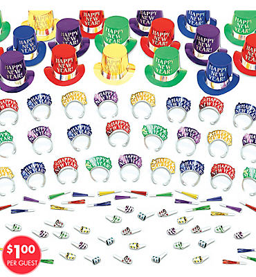 Elegant Celebration Multicolor New Years <span class=messagesale><br><b>Party Kit For 50</b></br></span>
